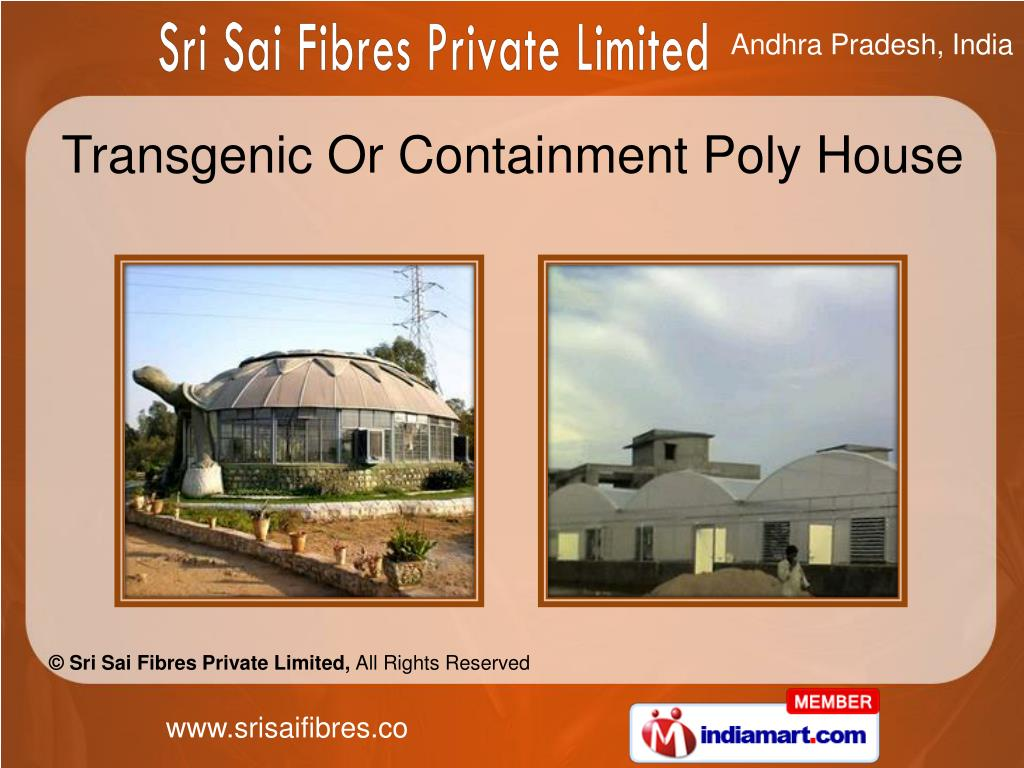 Transgenic Or Containment Poly House