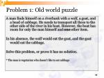 problem 1 old world puzzle