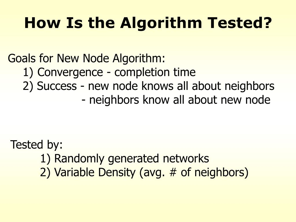 How Is the Algorithm Tested?
