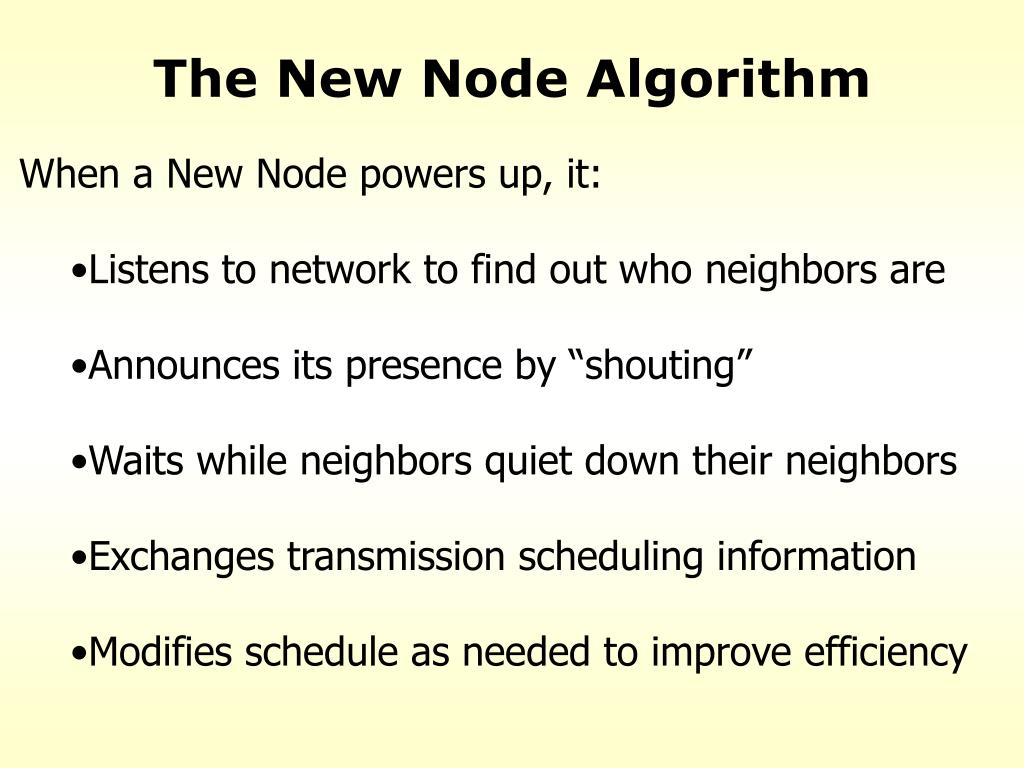 The New Node Algorithm
