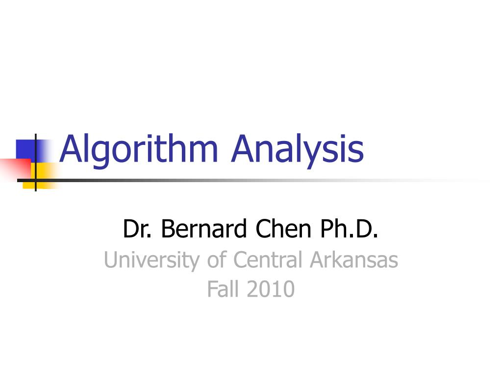 algorithm analysis l.