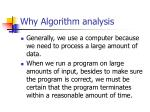 why algorithm analysis