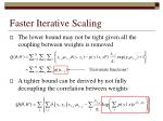 faster iterative scaling