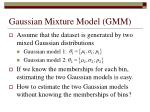 gaussian mixture model gmm