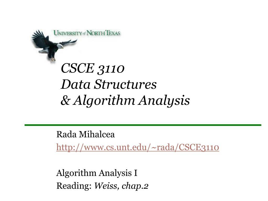 csce 3110 data structures algorithm analysis l.