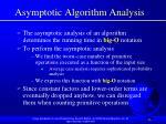 asymptotic algorithm analysis