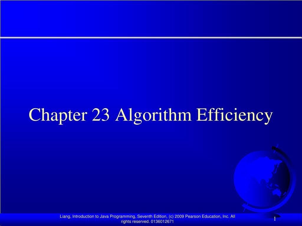 chapter 23 algorithm efficiency l.
