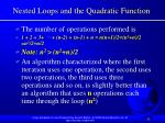 nested loops and the quadratic function32