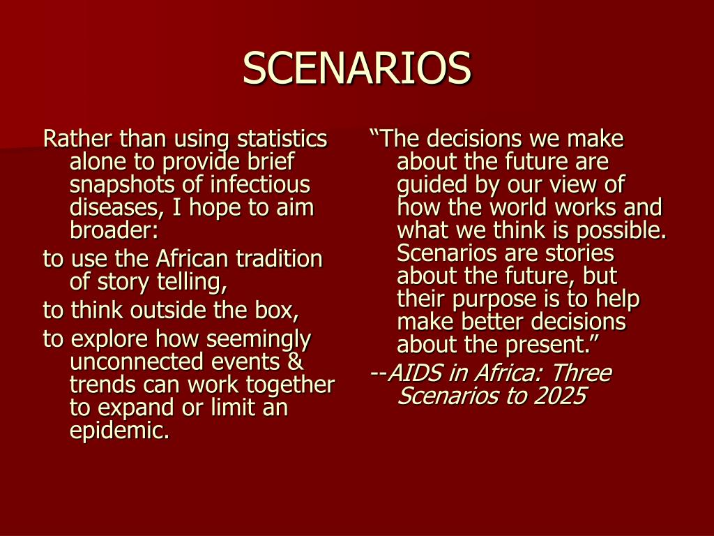 Rather than using statistics alone to provide brief snapshots of infectious diseases, I hope to aim broader: