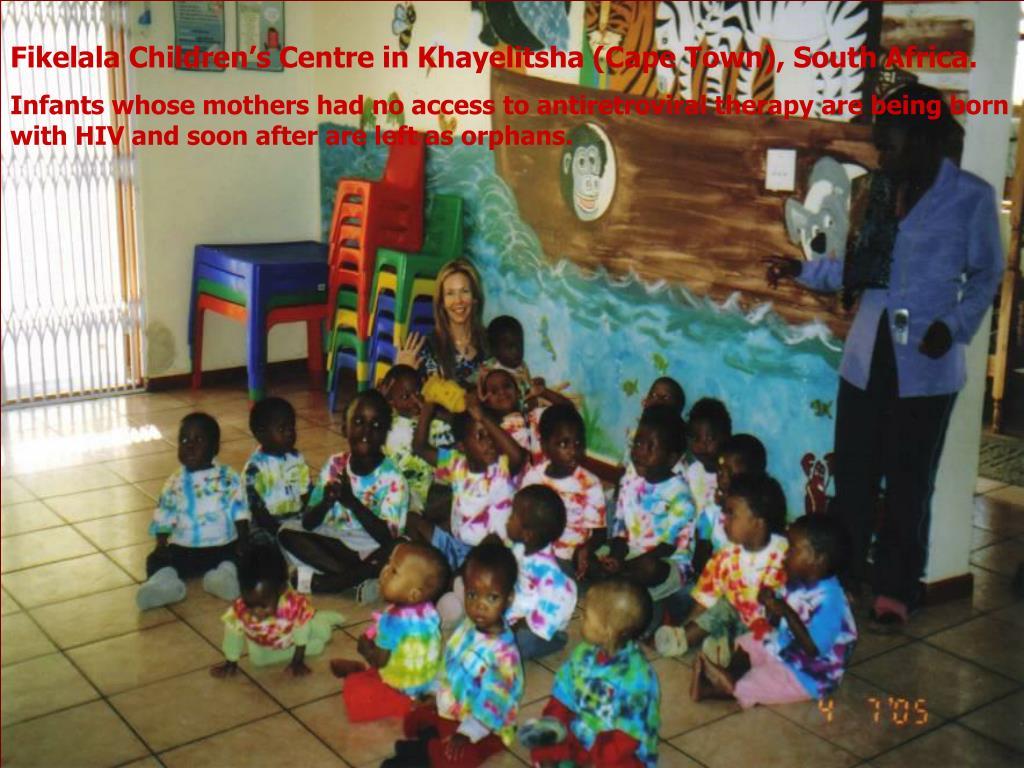 Fikelala Children's Centre in Khayelitsha (Cape Town), South Africa.