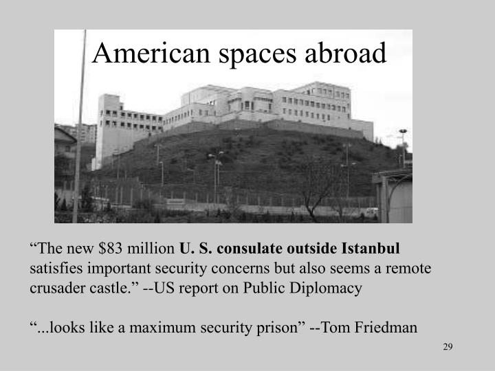 American spaces abroad