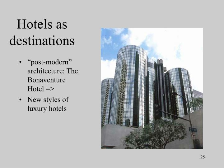 Hotels as destinations