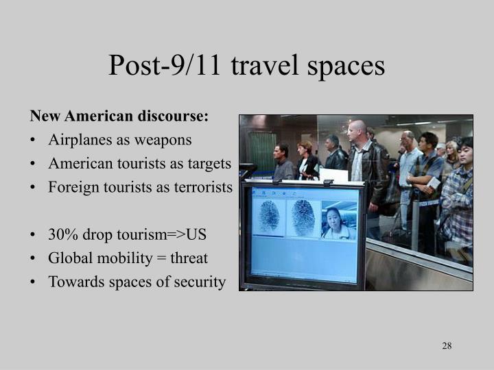 Post-9/11 travel spaces