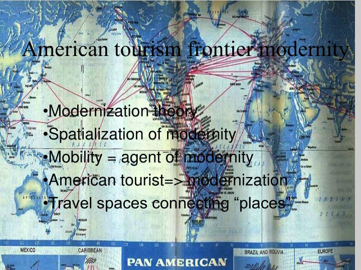 American tourism frontier modernity