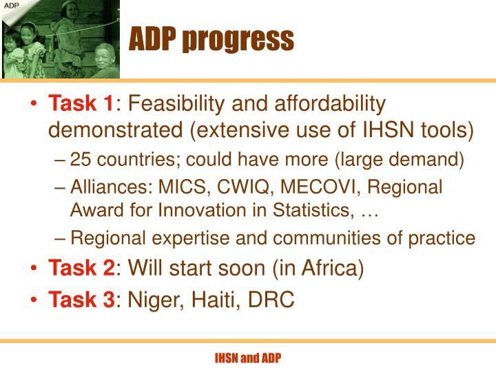 ADP progress