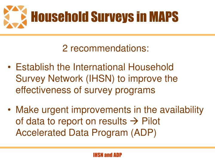 Household surveys in maps