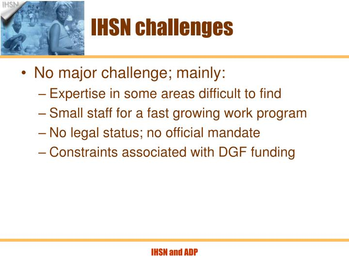 IHSN challenges