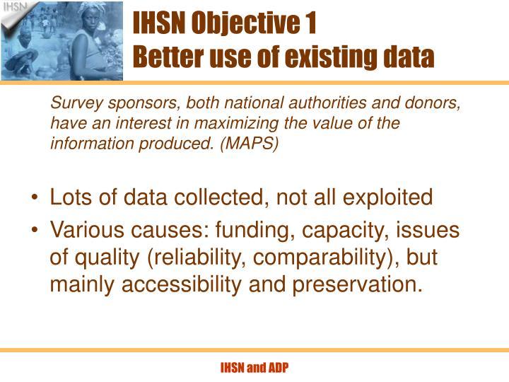 IHSN Objective 1