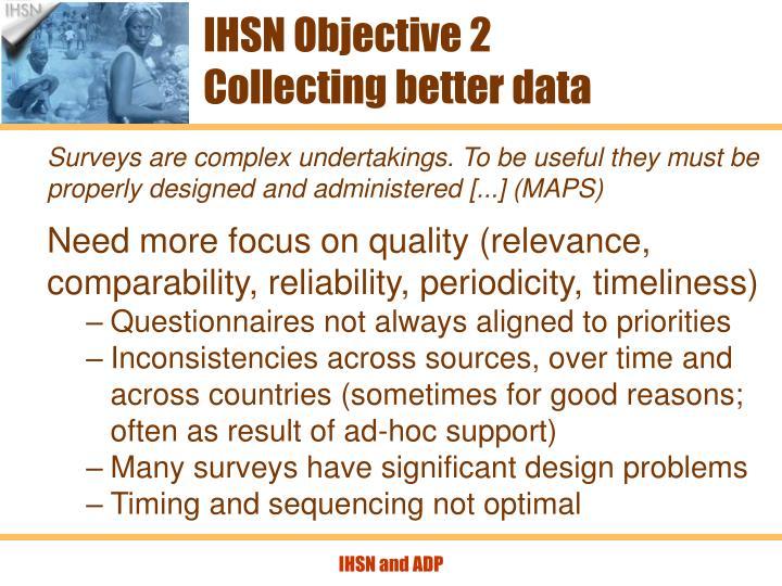 IHSN Objective 2