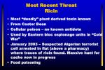 most recent threat ricin