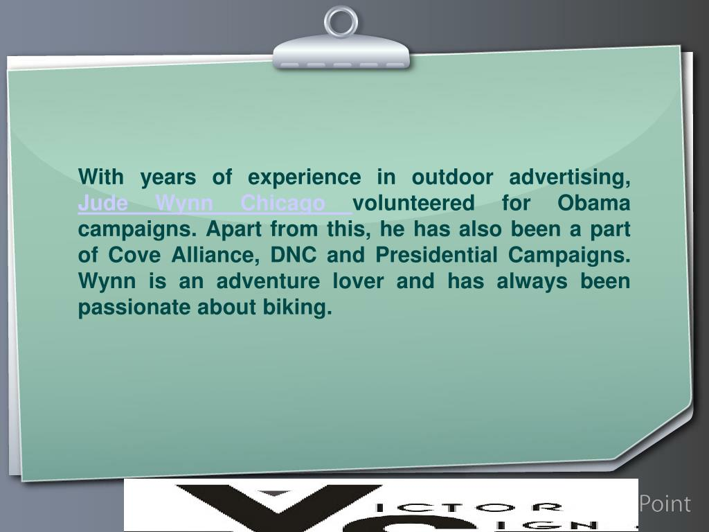 With years of experience in outdoor advertising,
