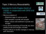 topic 2 mercury bioavailability