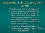 clausewitz sun tzu and views of war10