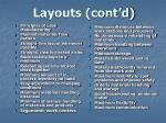 layouts cont d