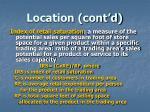 location cont d3