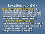 location cont d4