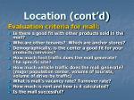 location cont d7