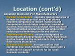 location cont d8