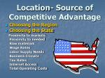 location source of competitive advantage
