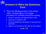 answers to warm up questions cont