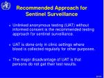 recommended approach for sentinel surveillance