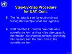 step by step procedure for uat cont18