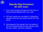 step by step procedure for uat cont19