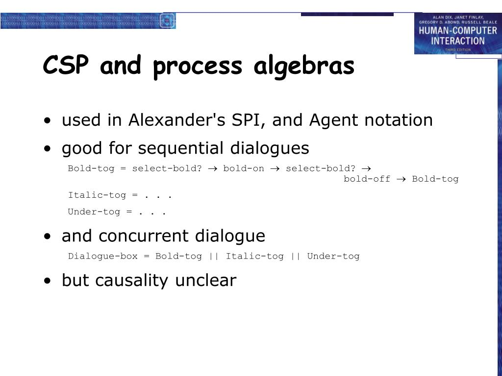 CSP and process algebras
