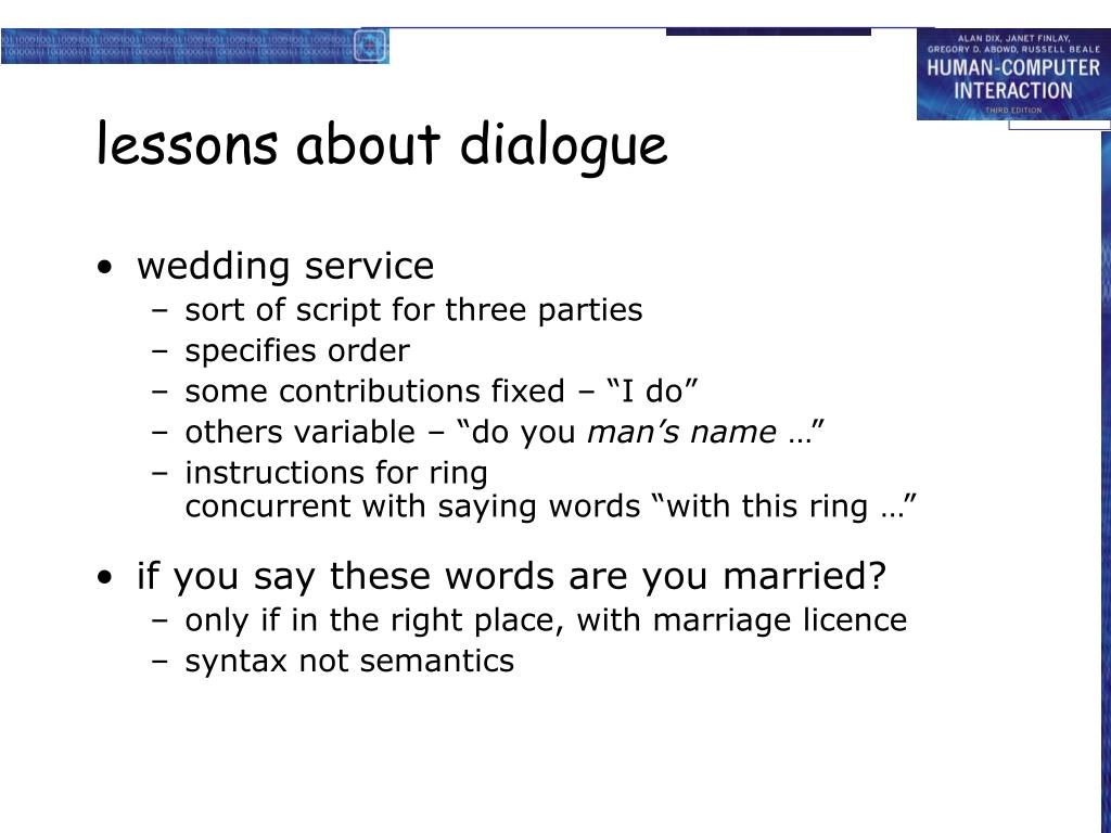 lessons about dialogue