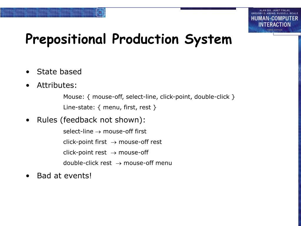 Prepositional Production System