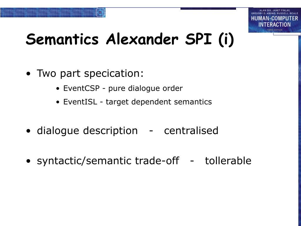 Semantics Alexander SPI (i)