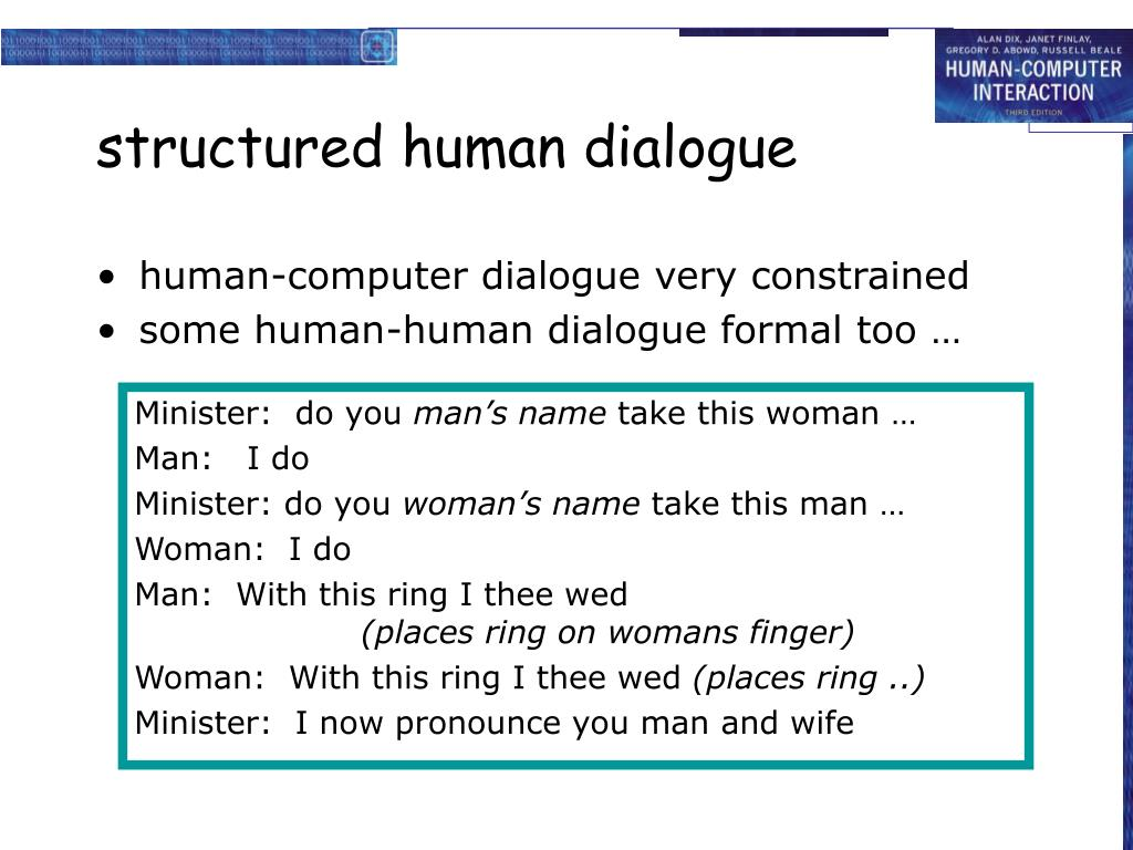 structured human dialogue