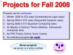 projects for fall 2008