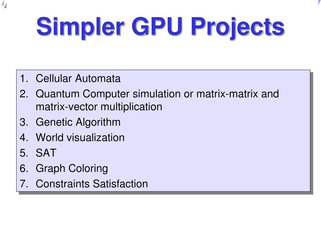 Gpu Quantum Simulator