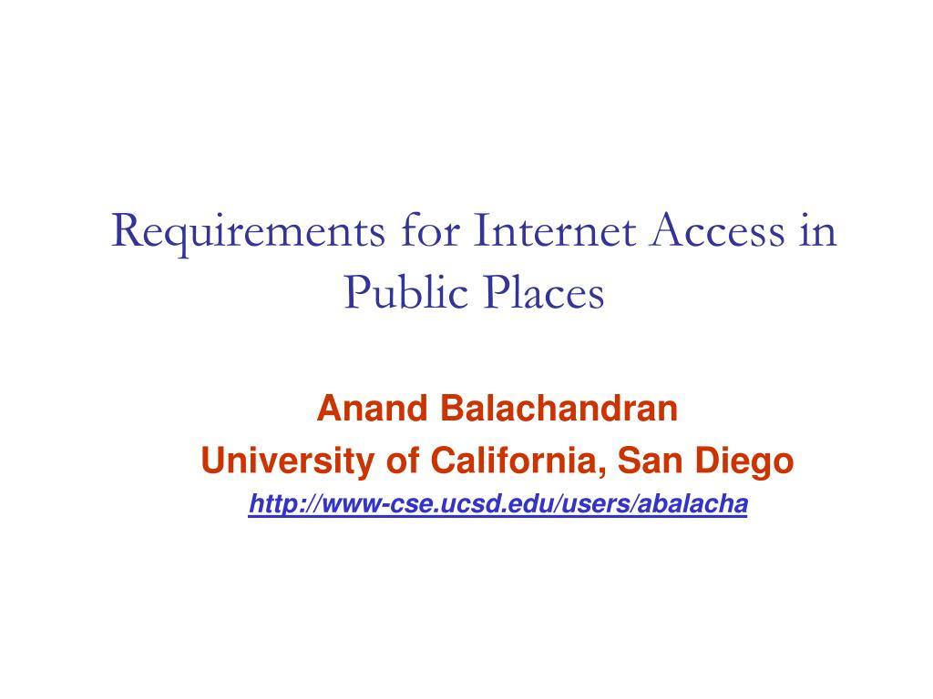 requirements for internet access in public places l.