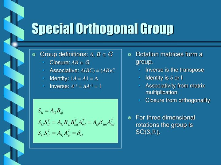 Special orthogonal group