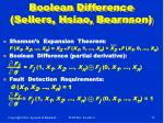 boolean difference sellers hsiao bearnson