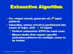 exhaustive algorithm