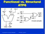 functional vs structural atpg