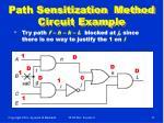 path sensitization method circuit example17